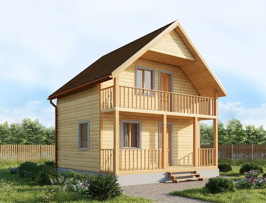 Проекты домов с мансардой из бруса