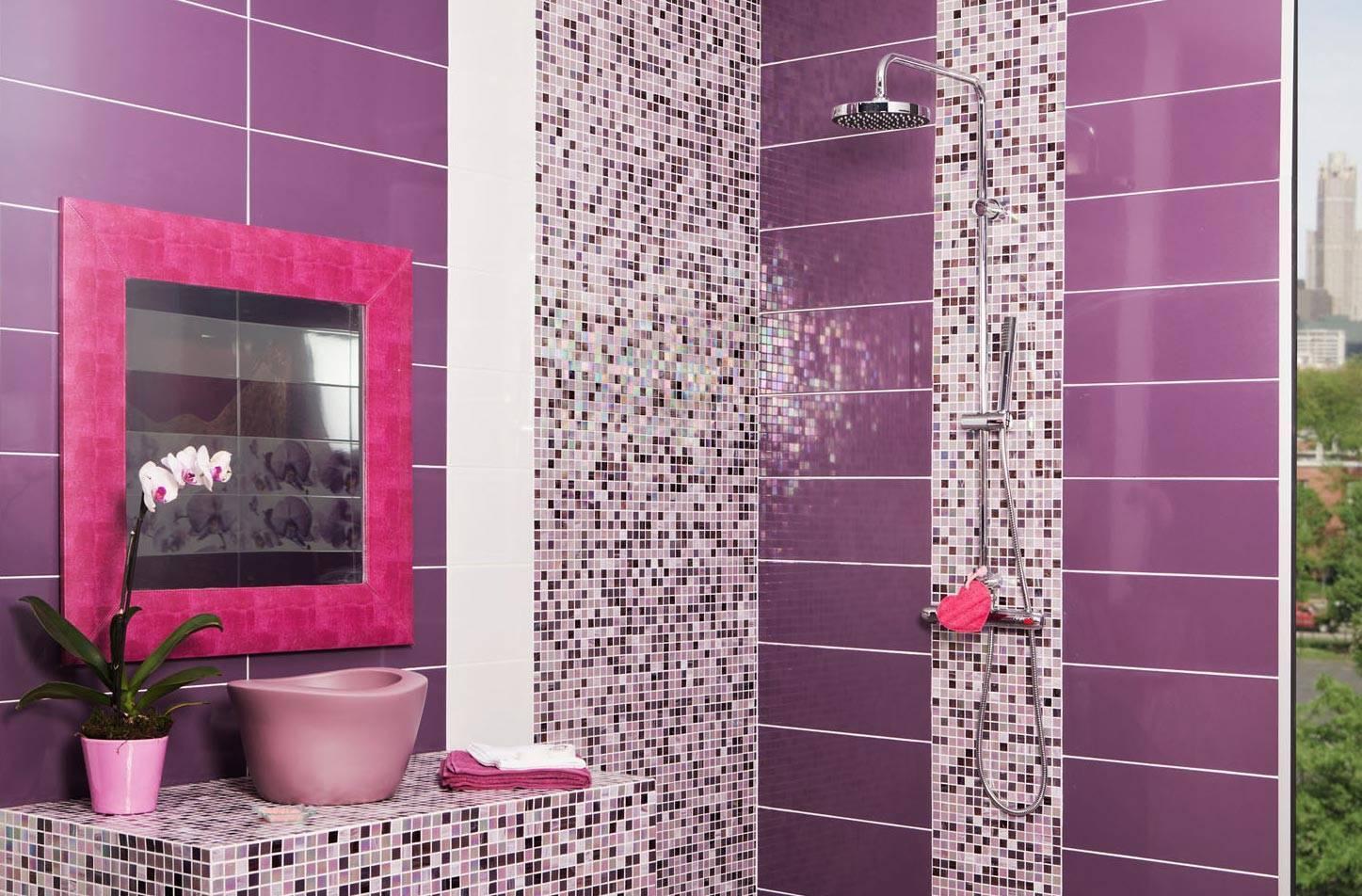 Варианты укладки плитки в ванной, дизайн: технология отделки пошагово, способы, варианты,фото, раскладка, система выравнивания.