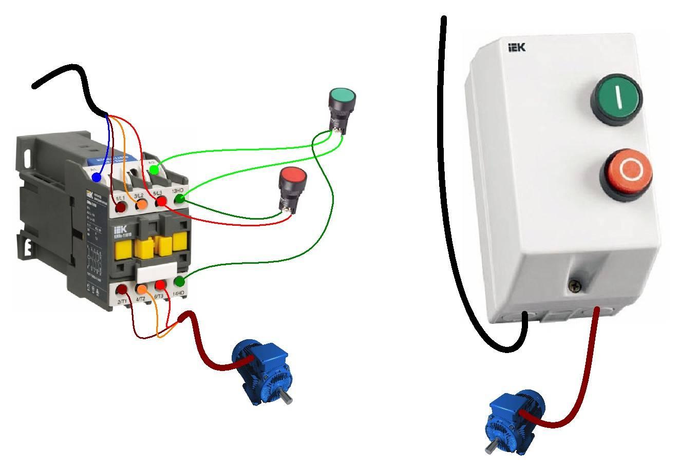 Подключение магнитного пускателя на 380 и 220в: схема, видео