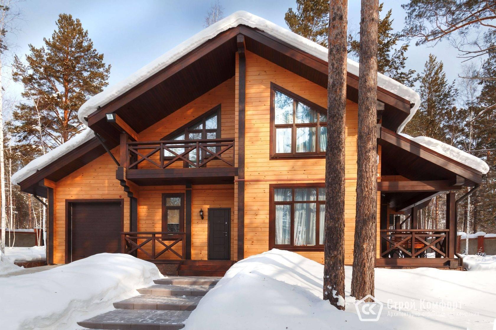 Шале с барбекю - строительство дома из бруса за 6219130руб под ключ   русский стиль