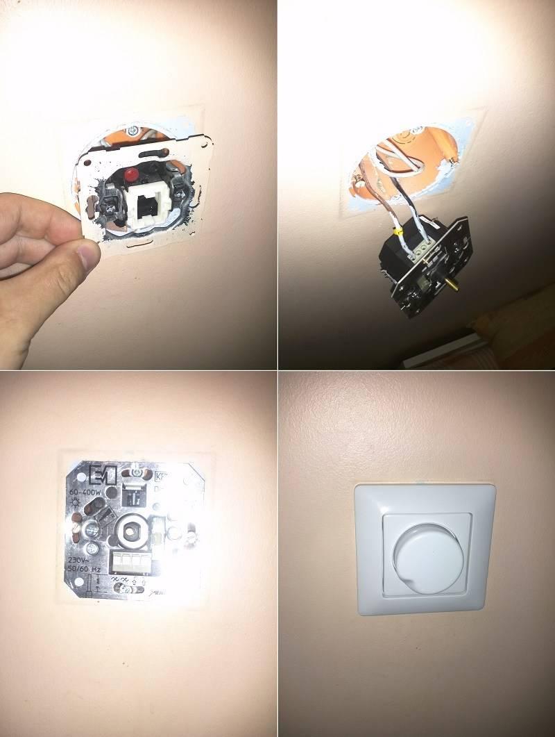 Как подключить диммер вместо выключателя