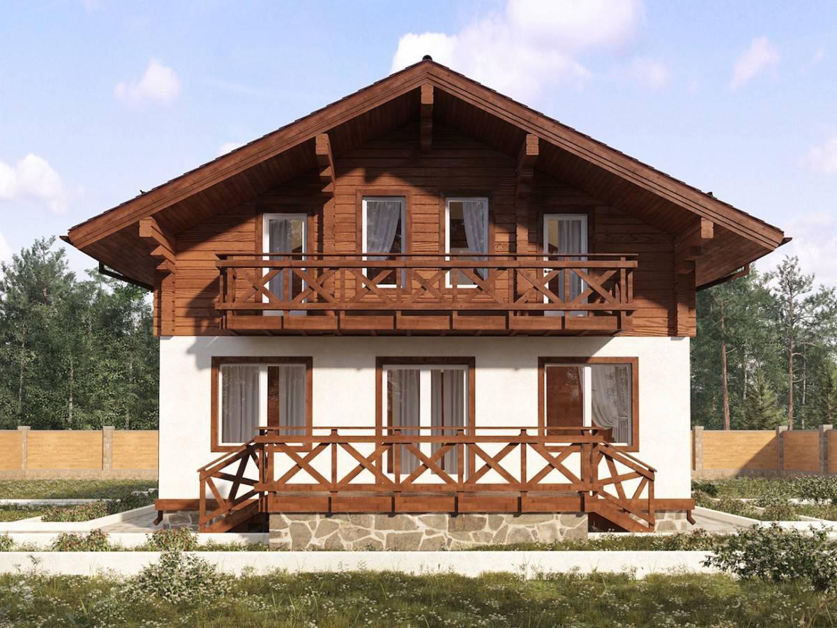 Комбинированные дома из пеноблоков и дерева: проекты и строительство коттеджей в стиле шале