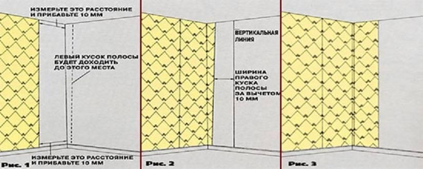 Правила наклеивания метровых флизилиновых обоев