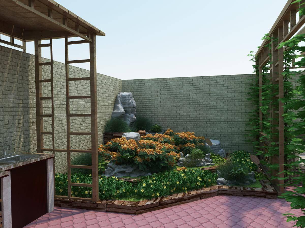 Как оформить дизайн двора частного дома: красивые идеи ландшафтного дизайна и советы по их применению (115 фото)