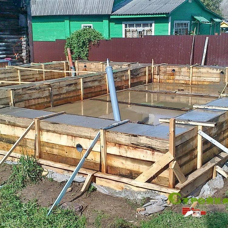 Строительство фундамента на воде
