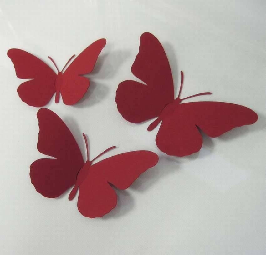 Бабочки на стене + фото, трафарет