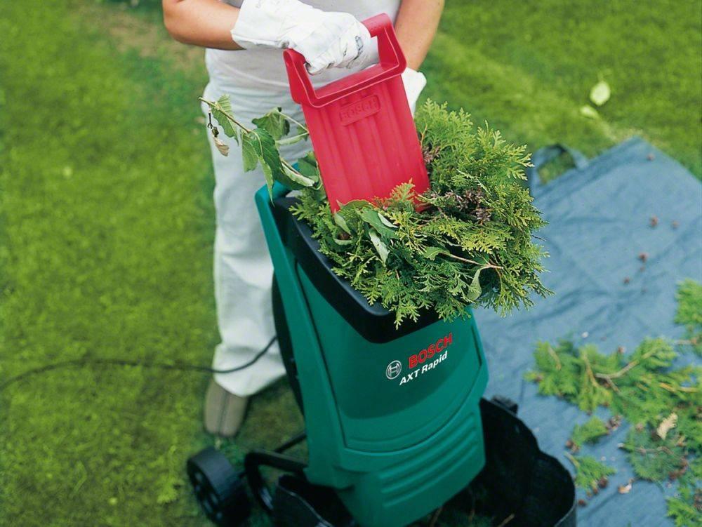 Как правильно выбрать садовый электрический измельчитель веток и травы для дачи
