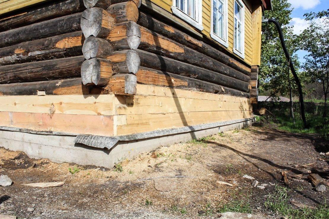 Замена и усиление фундамента под стоящим деревянным домом: объясняем досконально