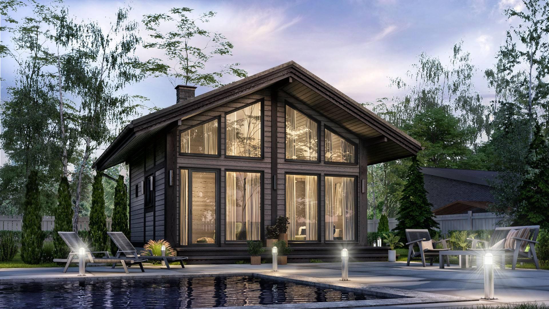 ????устройство панорамных окон в пол в деревянных домах - блог о строительстве