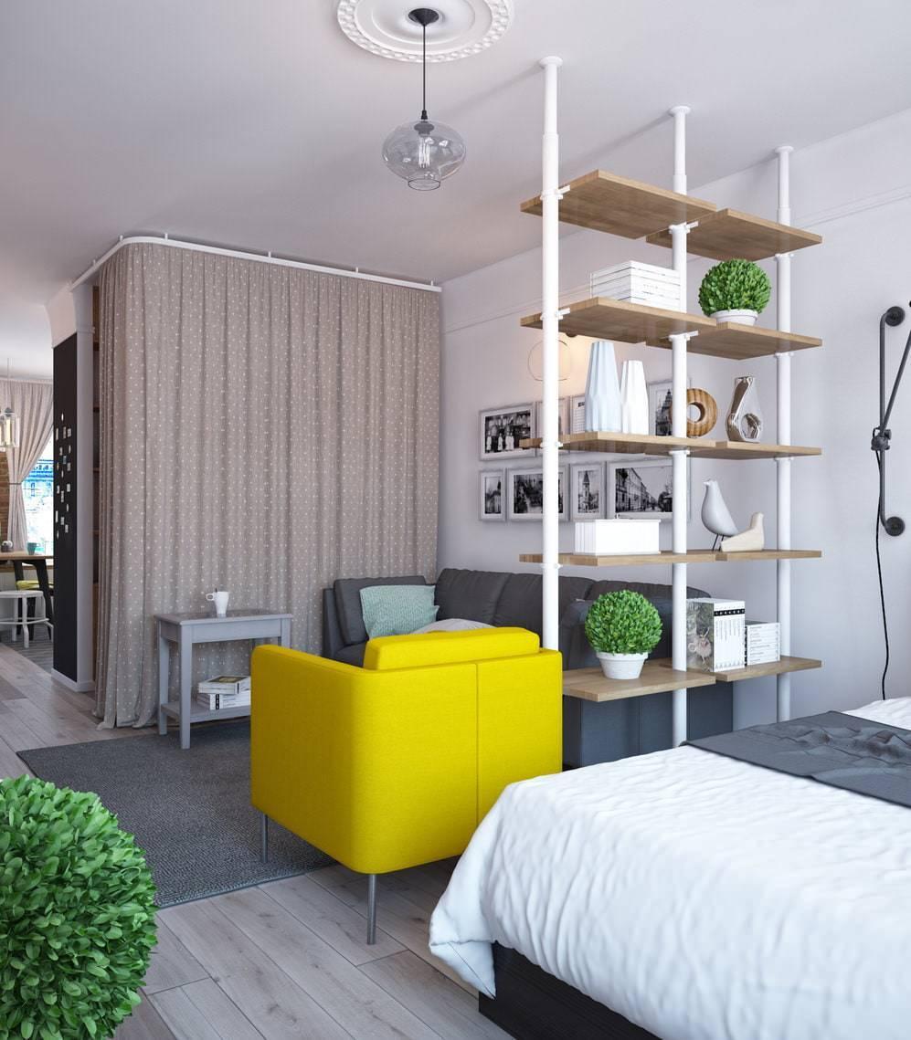 Дизайн маленькой студии: планировка интерьера квартиры для 12, 16, 29 кв м с фото