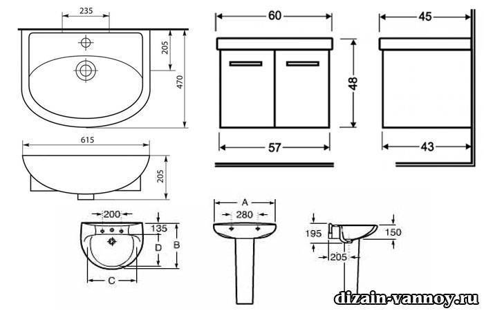 Высота раковины в ванной комнате: учесть всё и выбрать оптимальную