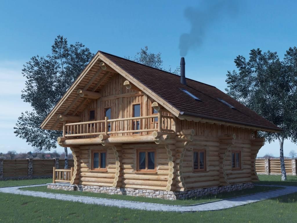 Строим эксклюзивный каркасно-бревенчатый дом