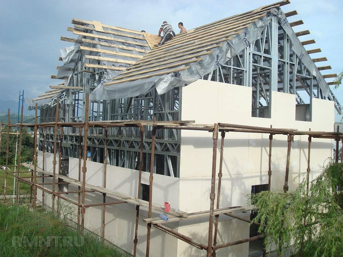 Каркасные здания из профиля. дома из металлокаркаса: недостатки, преимущества и отзывы. выбор фундамента для каркасного дома из металлопрофиля
