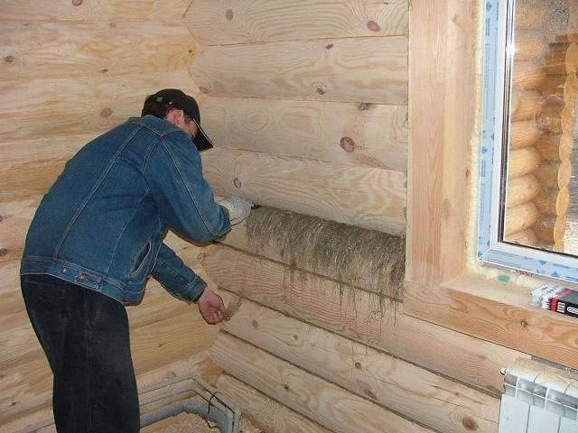 Как быстро проконопатить дом из бруса? - строительство из дерева и бруса