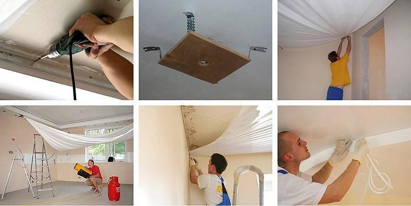 Почему провисает натяжной потолок