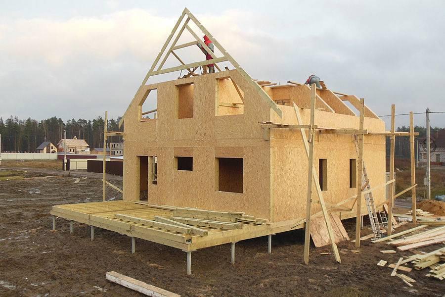 Постройка каркасных домов из СИП панелей