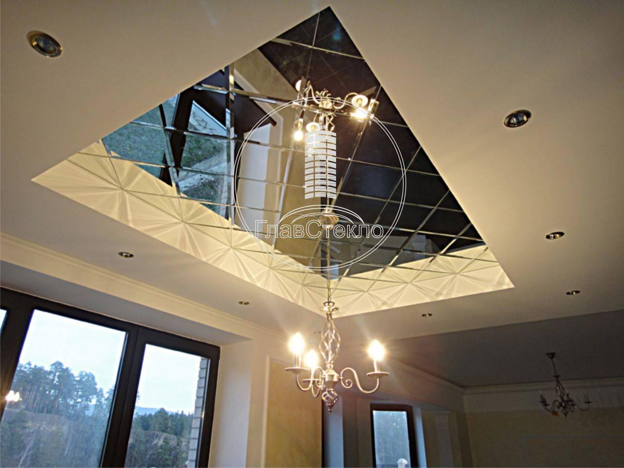 Стеклянные потолки (с подсветкой и без) - 30 фото интерьеров