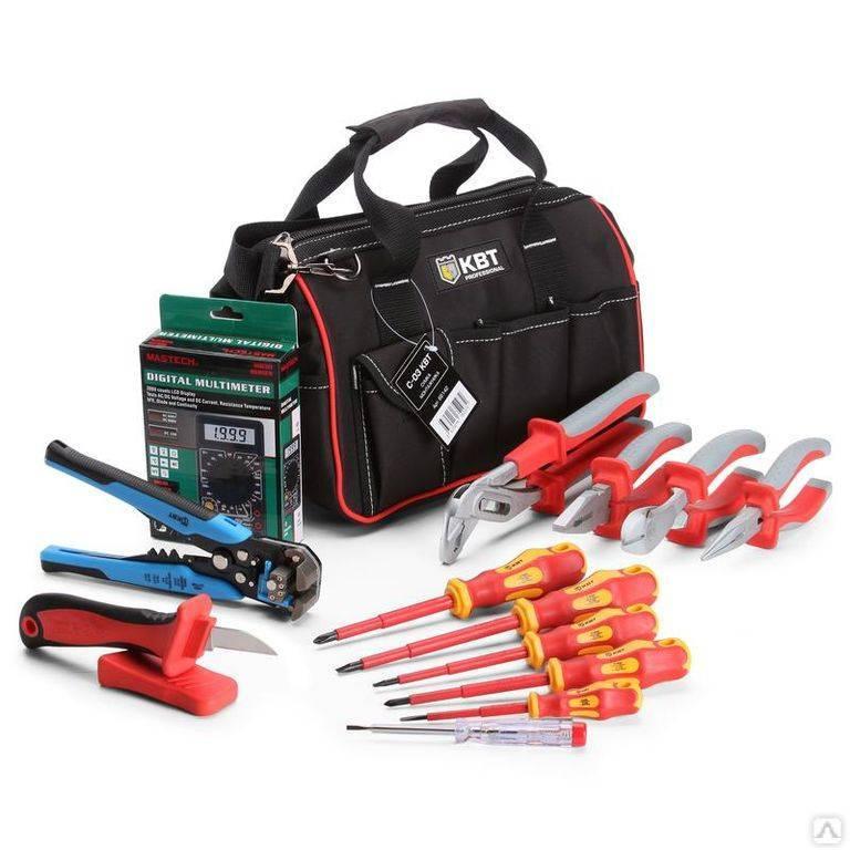 Базовый и профессиональный набор инструментов для электрика
