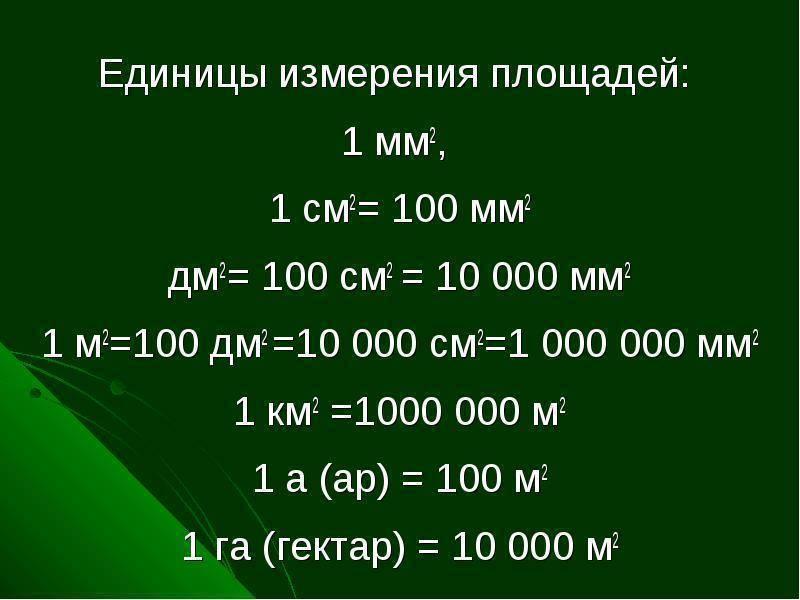 Сколько квадратных метров составляют 1 процент гектара