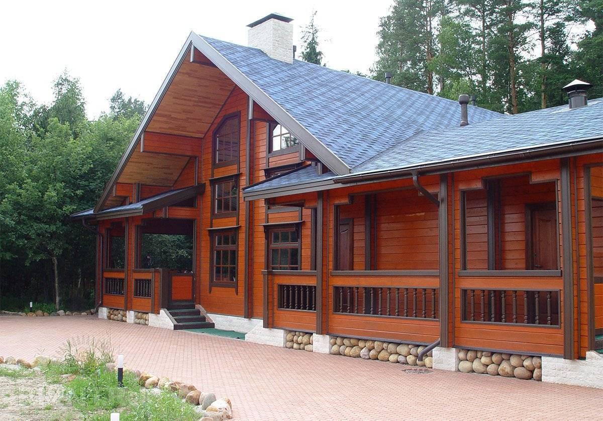 Дома из бруса шале и проекты из профилированного клеенного бруса