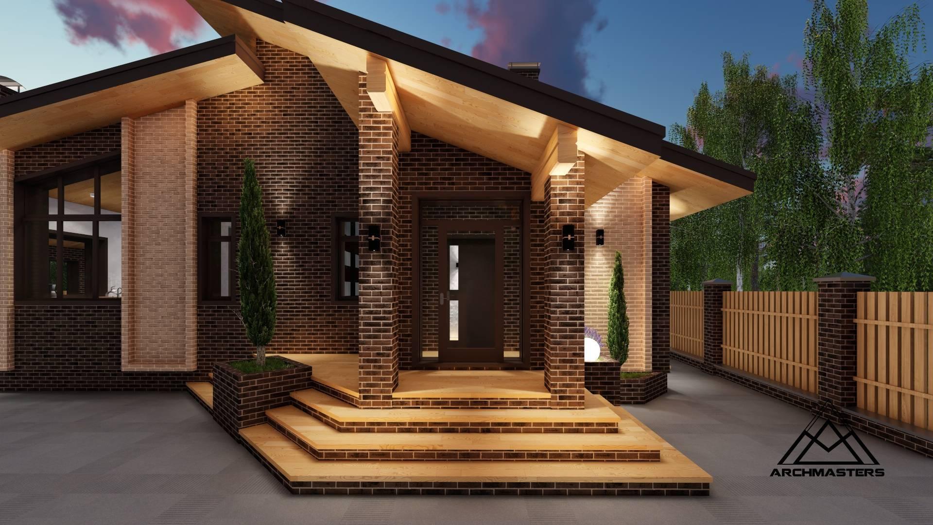 Проекты кирпичных одноэтажных домов, особенности планировки и ценообразования