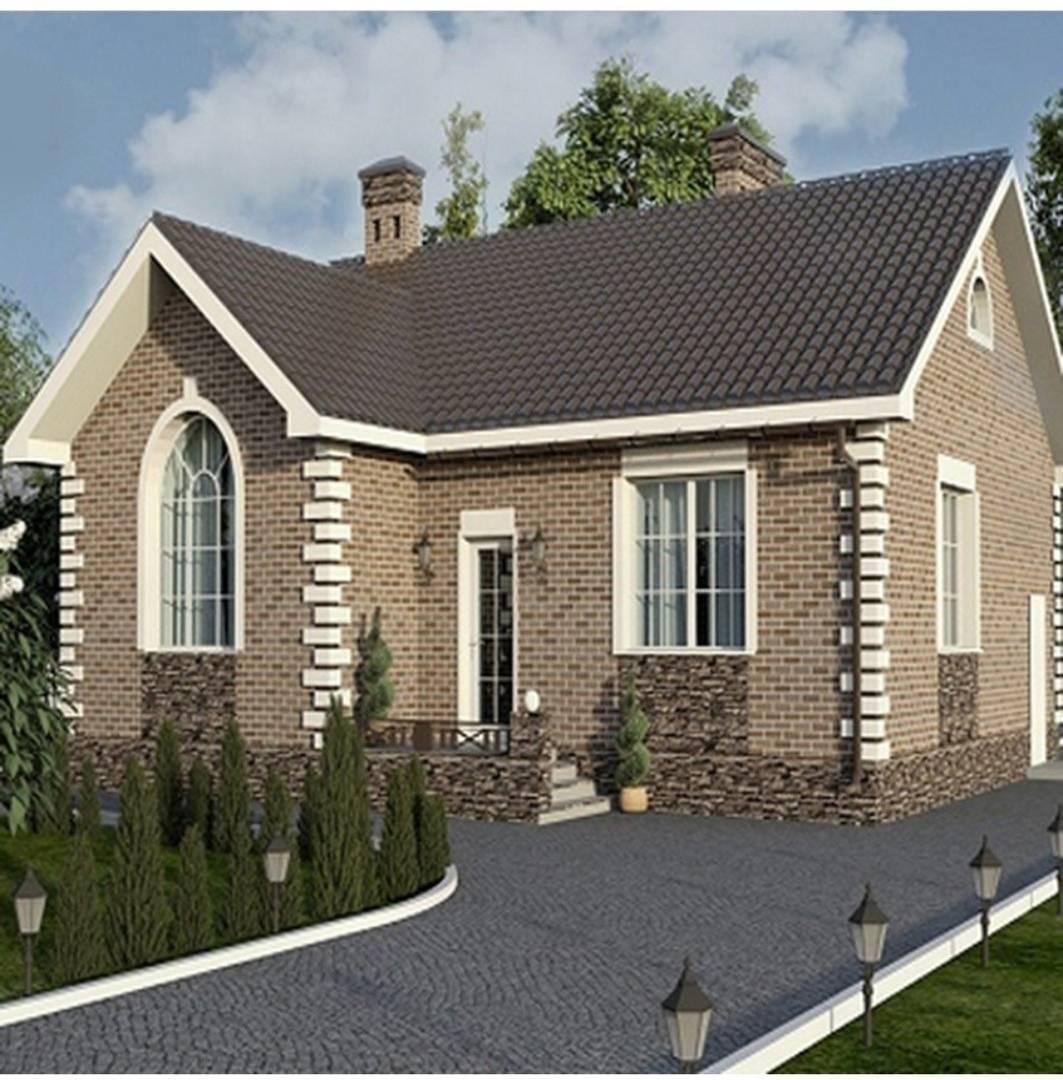 Конструкция стены дома из пеноблока и облицовочных кирпичей