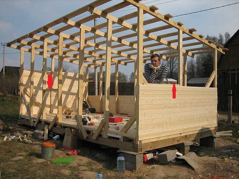 Строительство сарая своими руками