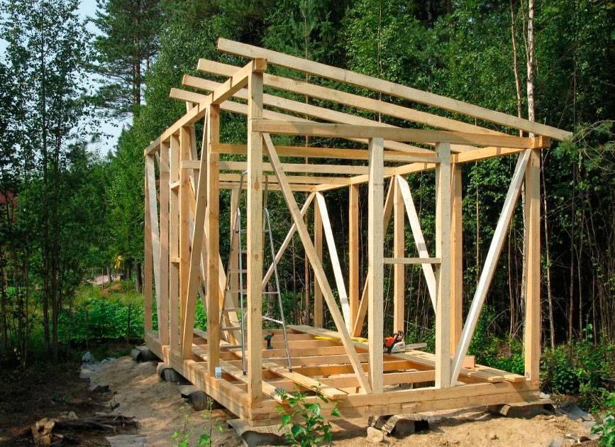 Сарай на даче 3х6 с односкатной крышей своими руками: чертеж проекта, строительство каркасного хозблока 6х3