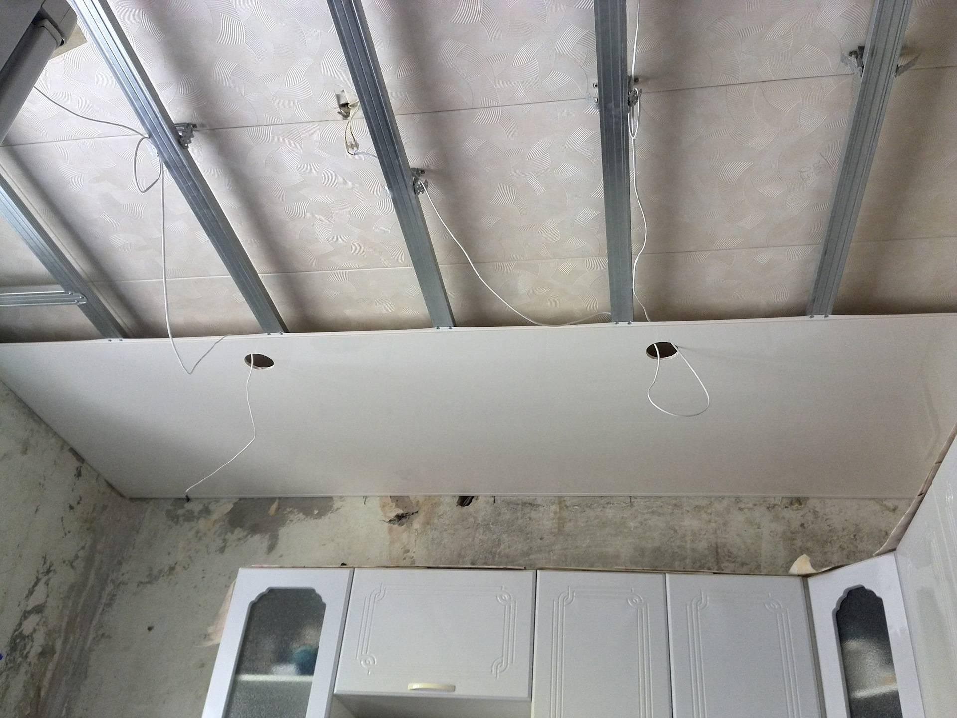Как обшить потолок пластиком на кухне - порядок работ, видео