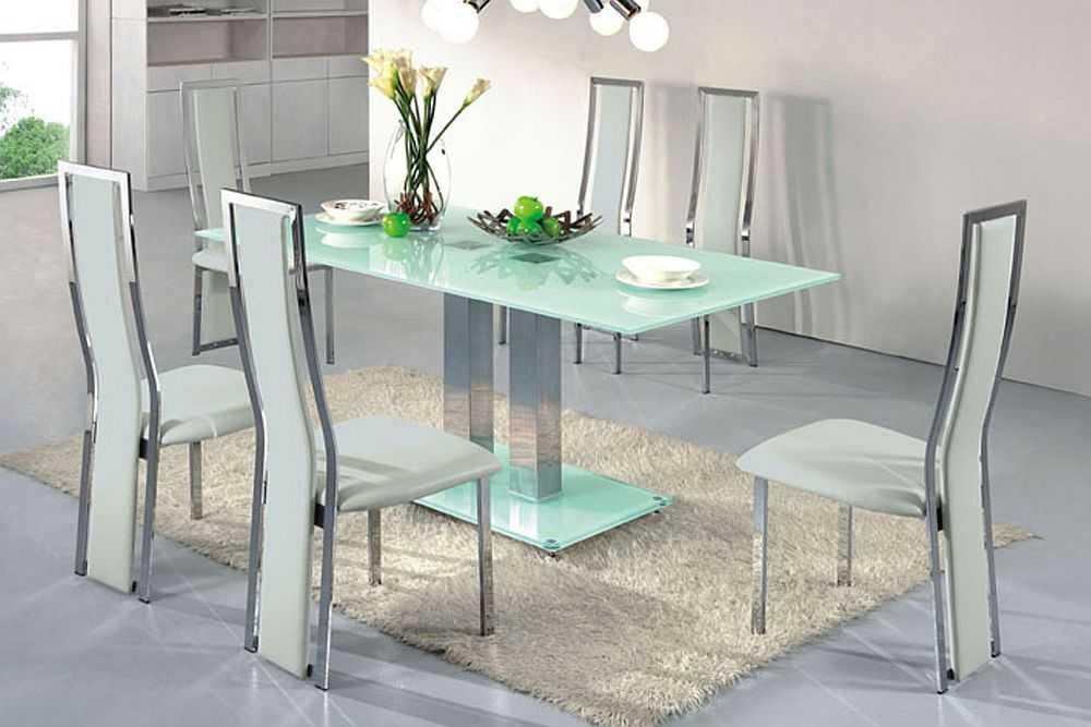 Стеклянные столы для кухни: фото в интерьере, виды, формы, цвета, дизайн, стили