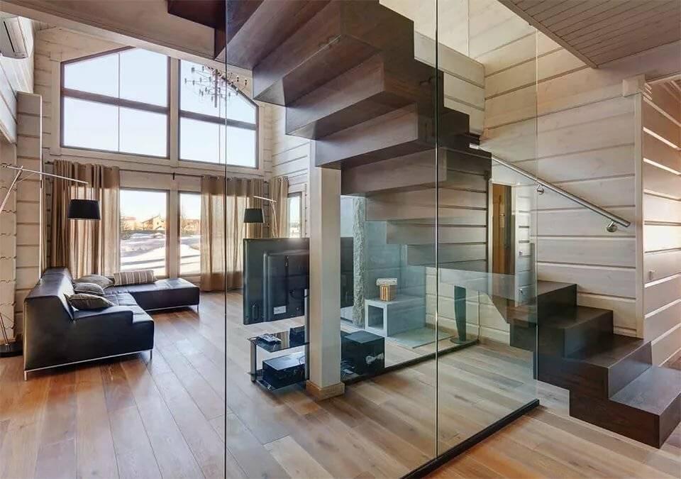 Интерьер деревянного дома из бруса внутри — фото, стилевые решения