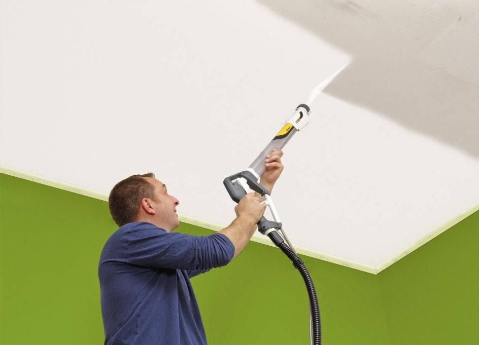 Краскопульт для потолка - выбор и особенности нанесения краски