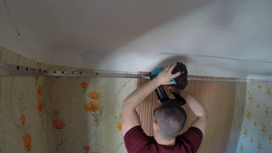 Натяжной потолок своими руками без нагрева (7 фото)