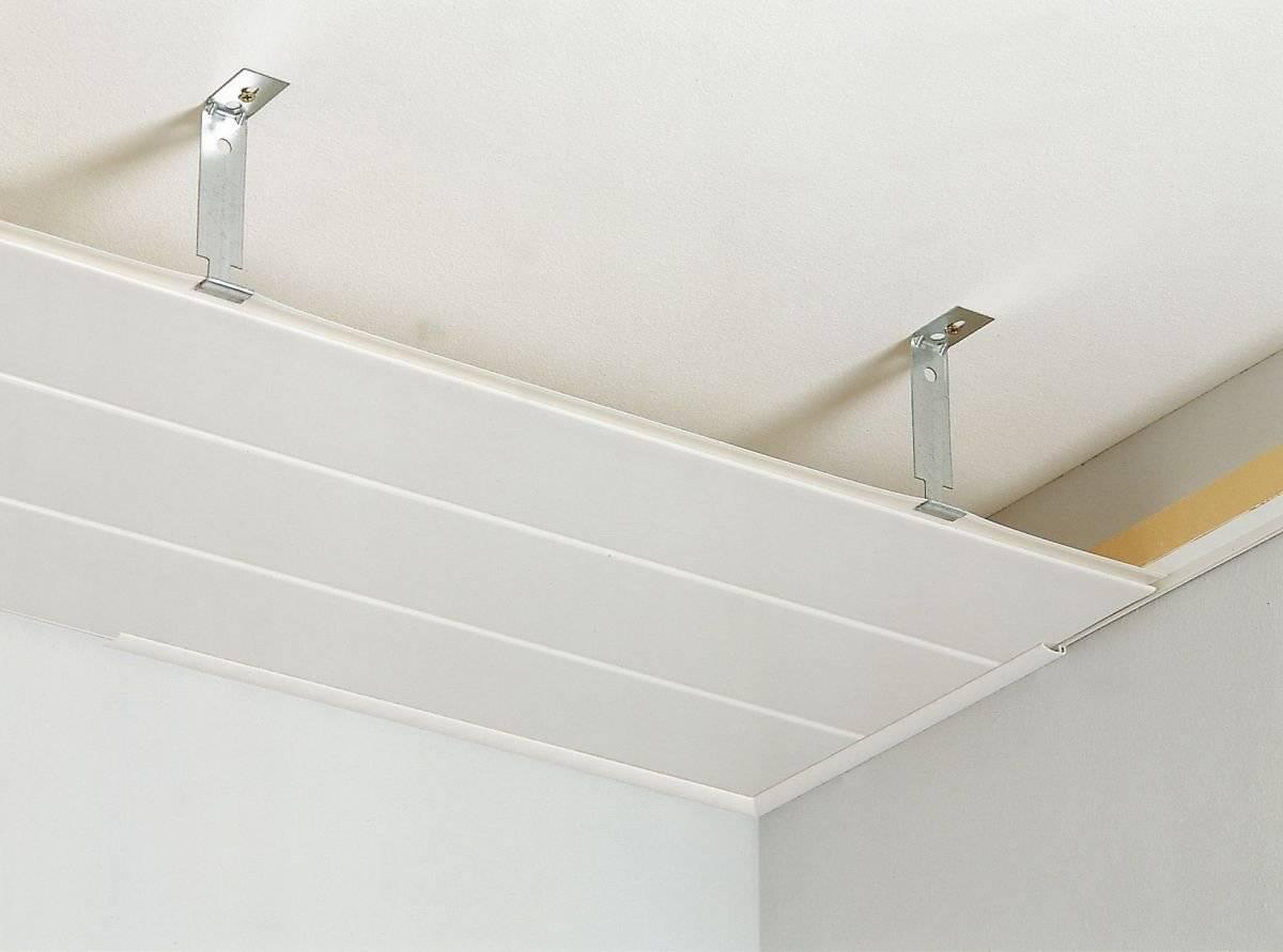 Потолок из пластиковых панелей – пошаговая инструкция по постройке от проектирования до монтажа (110 фото)