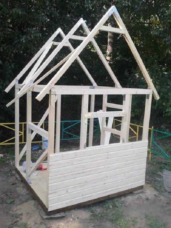 Детский домик своими руками - особенности конструкции и ее монтаж(+фото и схемы) | стройсоветы