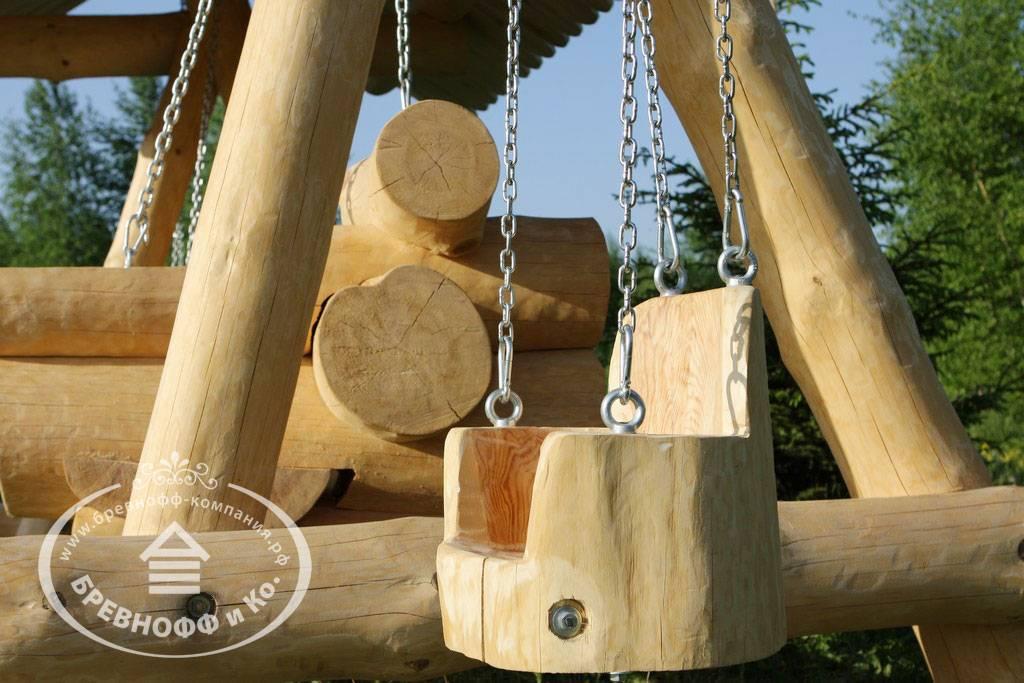 Деревянные качели (97 фото): как сделать садовые качели своими руками из дерева для дачи, размеры уличных детских моделей