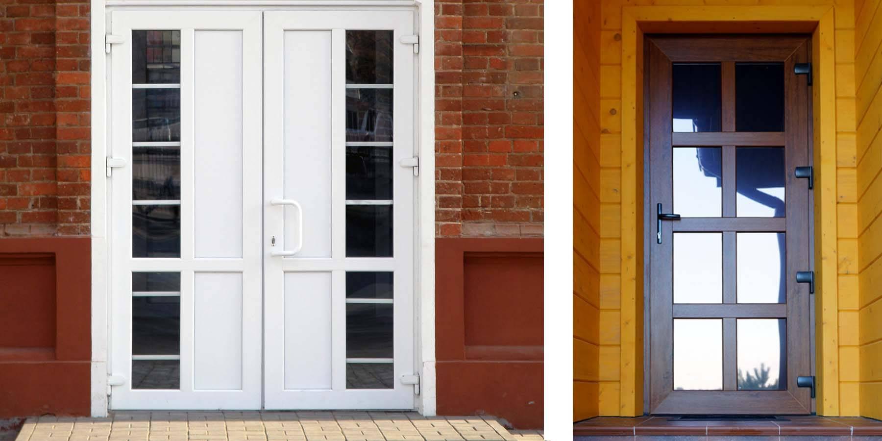 Входные пластиковые двери, особенности пвх для частного дома и квартиры