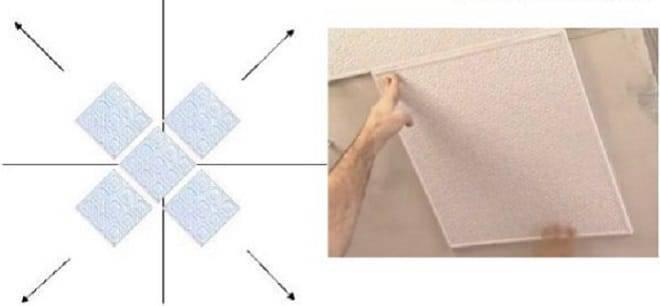 Как поклеить потолочную плитку на побелку и можно ли это делать