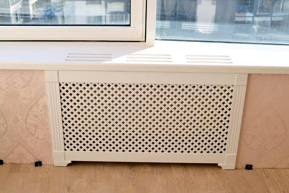 Как установить экраны-решетки на батареи отопления