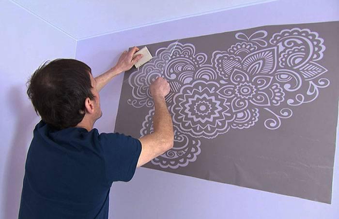Рисунки на потолке - делаем своими руками!