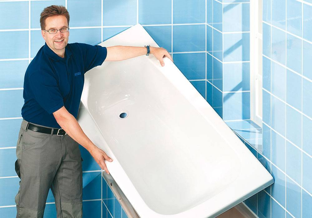 Акриловая вставка (вкладыш) в ванну - самостоятельная установка