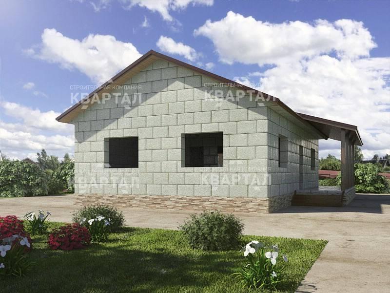 ????проекты одноэтажных домов из пеноблоков: особенности и фото-примеры - блог о строительстве