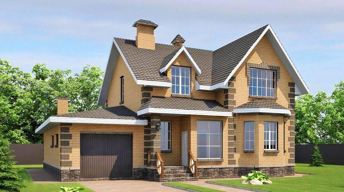 Проекты комбинируемых домов из кирпича и бруса