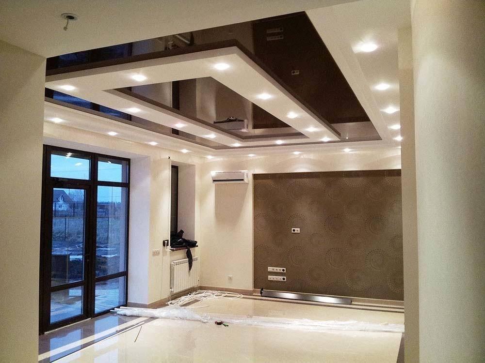 Виды и фото подвесных потолков из гипсокартона