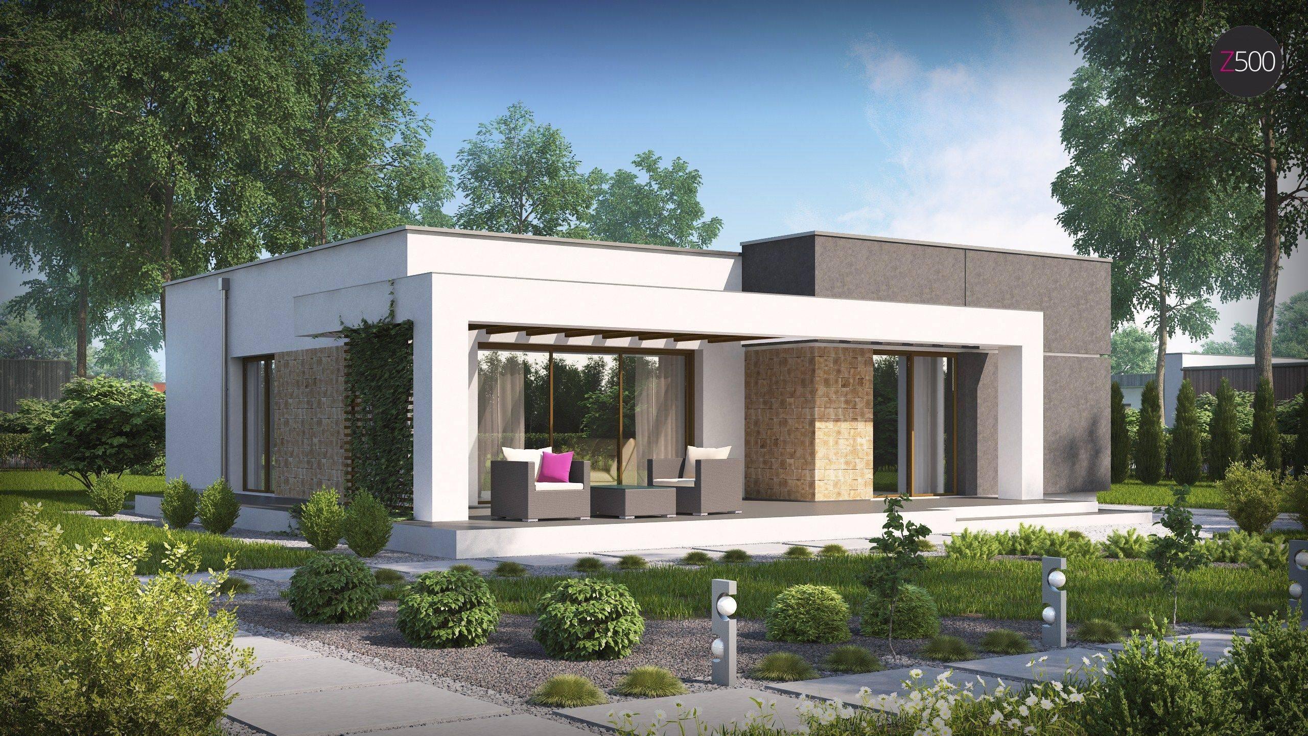 Одноэтажные дома хай-тек (48 фото): проекты домов с плоской крышей и с гаражом размером до 100 кв. м, красивые проекты из бруса и других материалов