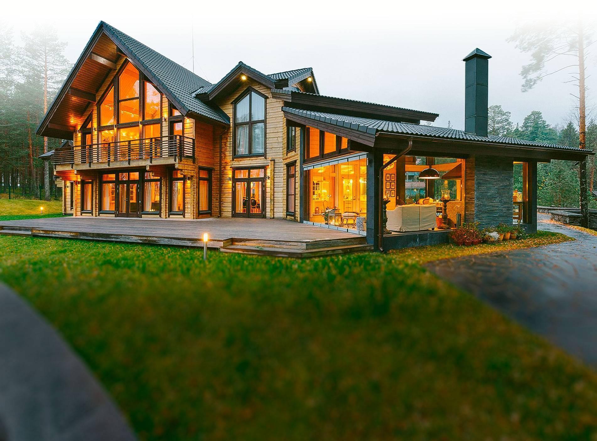 Варианты деревянных домов-фото разновидностей домов из рубленного бревна