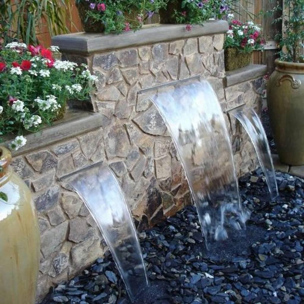 Водопад своими руками на даче пошагово, фото подборка