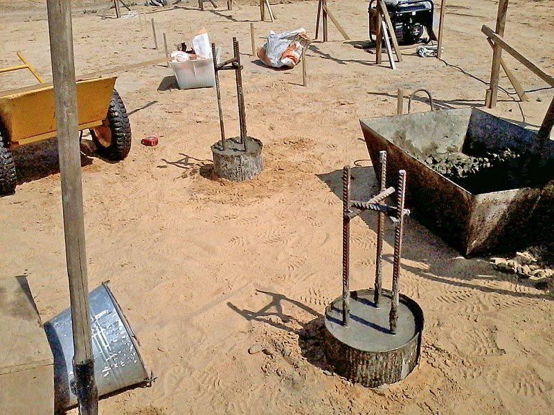 Строительство фундамента по технологии тисэ