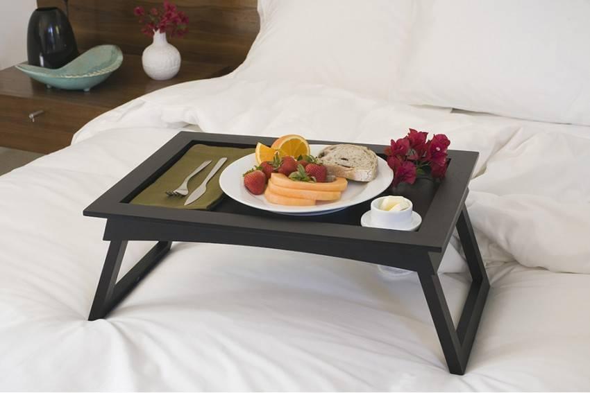 Как сделать столик для завтрака в постель своими руками: чертежи