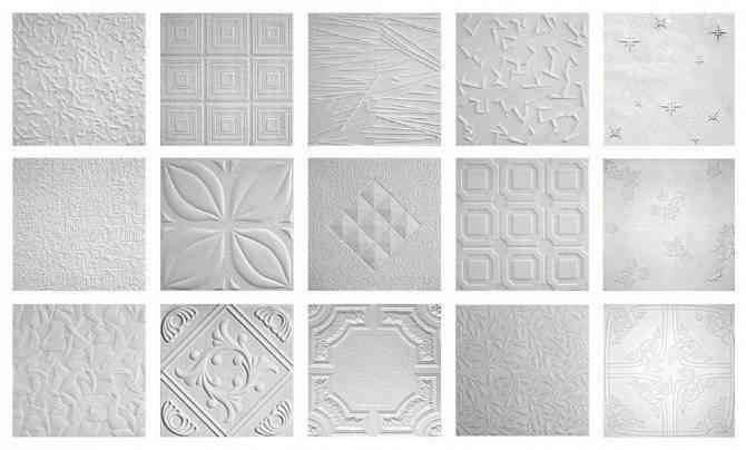 Потолочная плитка - разновидности потолочной плитки и фотографии